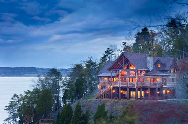 A tennessee vacation log home for Vacation log homes