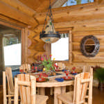 dining area log home ski chalet