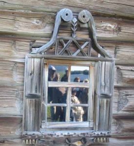 russian log home architecture windows