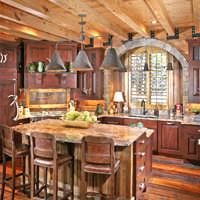 log home kitchen design