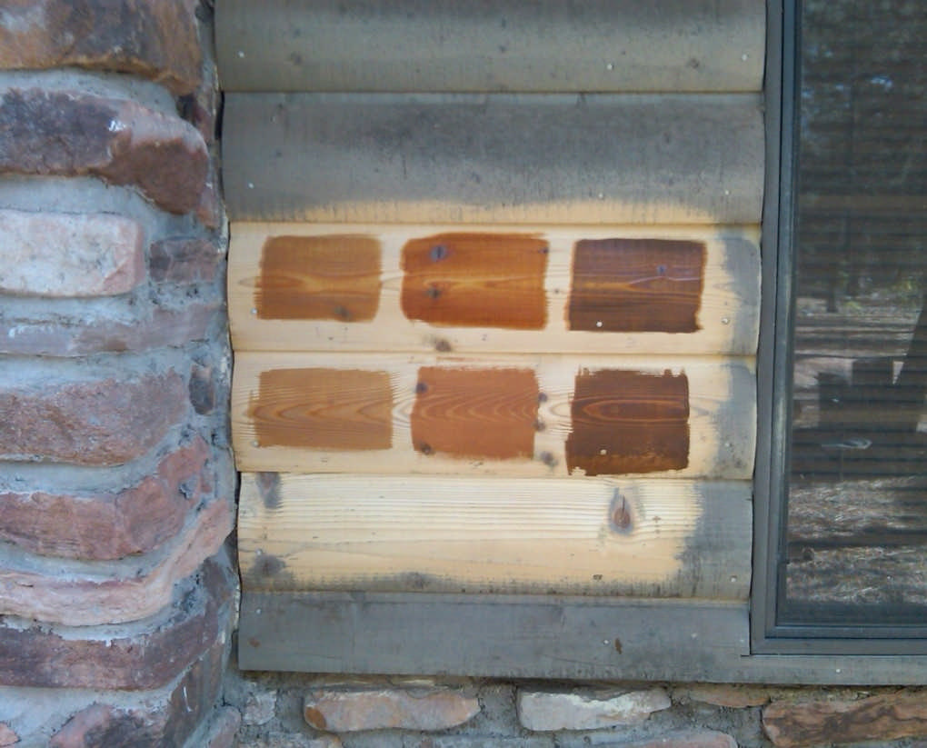 Staining options for your log home How to stain log cabin