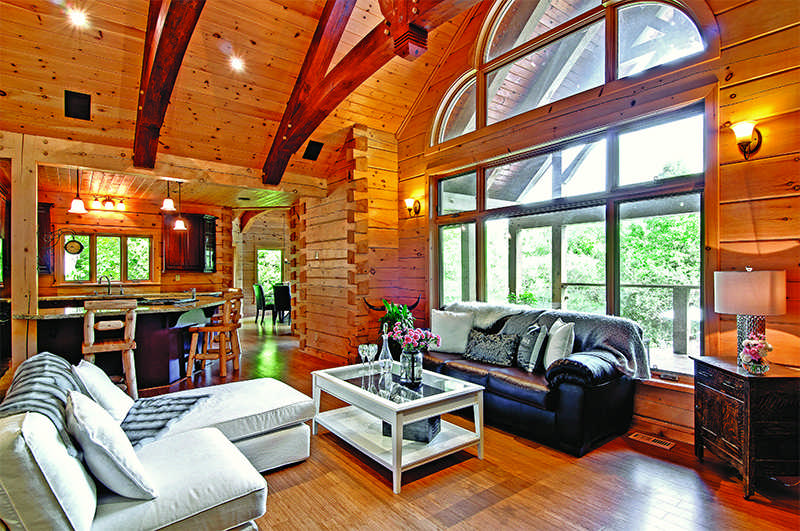 perceived space in a small log home