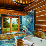 montana mountain retreat bathroom