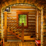 montana mountain retreat staircase
