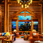 montana mountain retreat great room