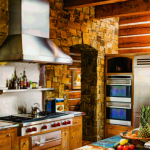 montana mountain retreat kitchen