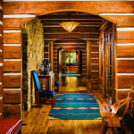 montana mountain retreat entryway