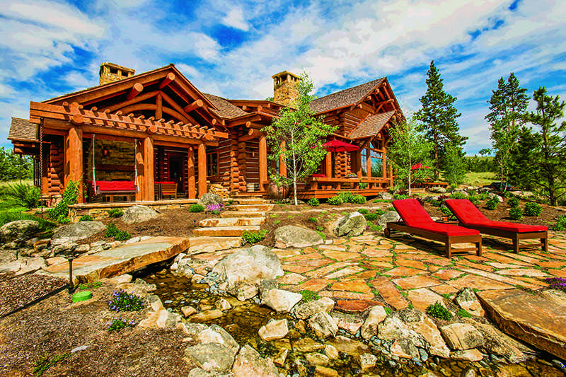 montana mountain retreat exterior