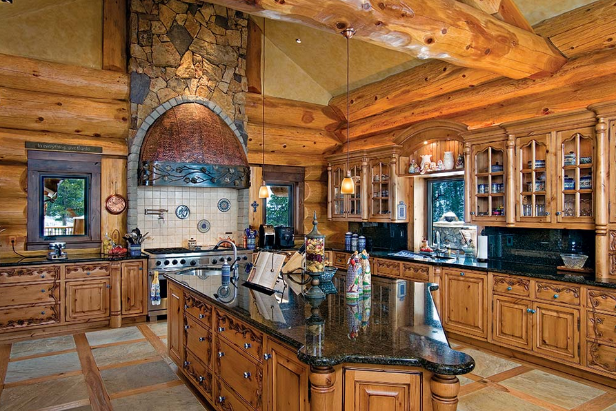 6 Inspirational Log Home Kitchens