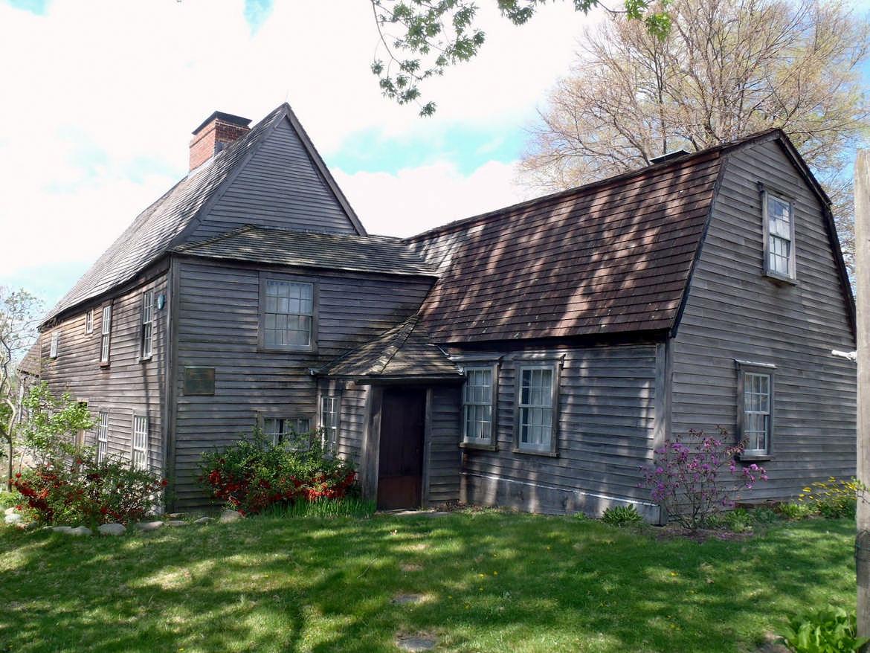 The Fairbanks House in Dedham, Massachusetts. Photo courtesy of Sojourning Boston.
