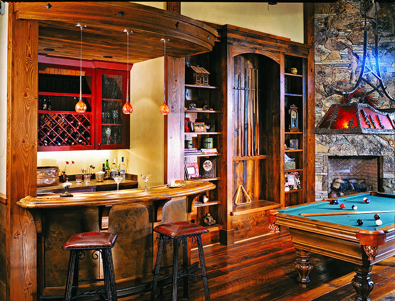 log home decor bar style
