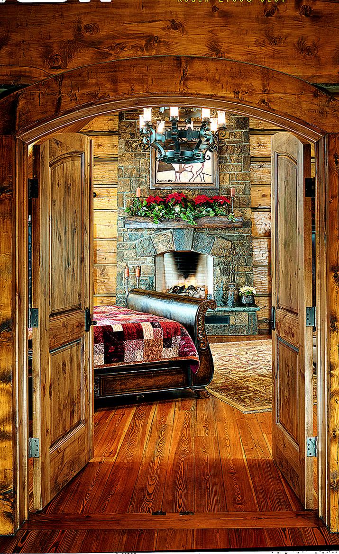 Festive Log Homes Get Into The Holiday Spirit