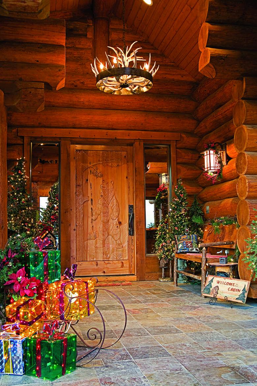 Jasmine Terrace: Festive Log Homes Get Into The Holiday Spirit