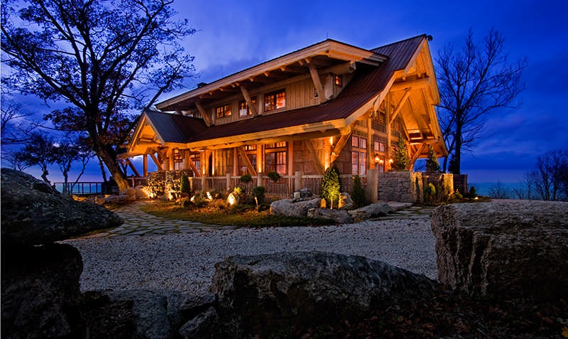 Log Home Large Roof