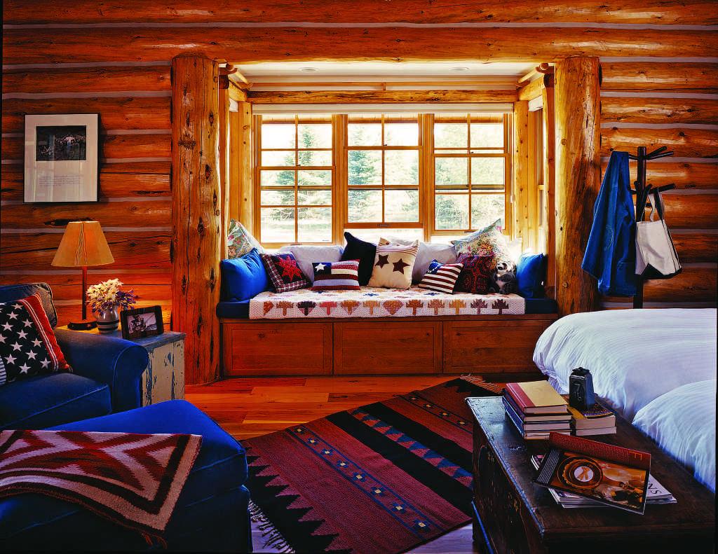 Log Home Window Seat