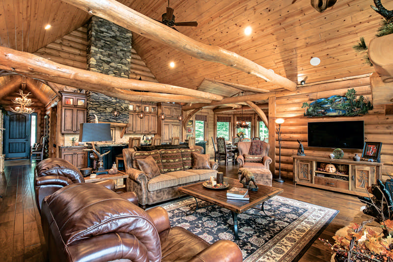 A Vacation Log Home in New Hampshire