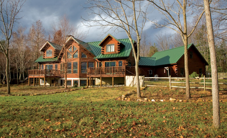 Dreaming in Green in an Eco-Friendly Log Home