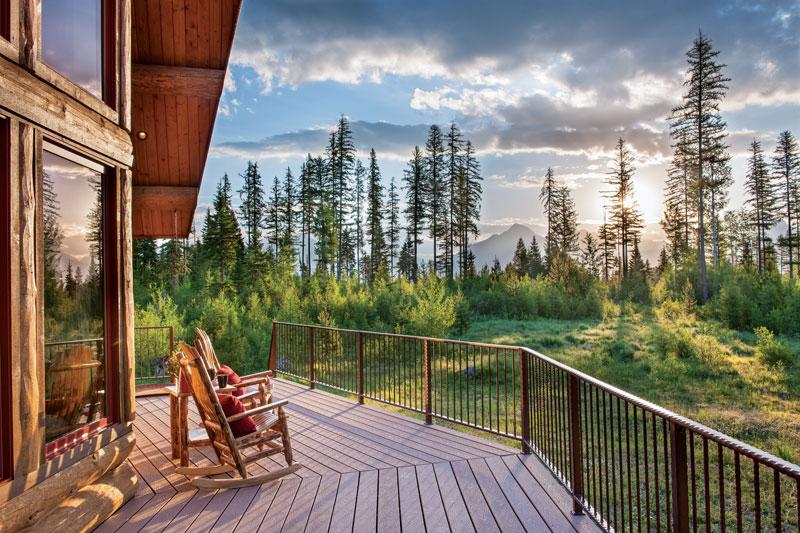 A Remote Montana Log Home