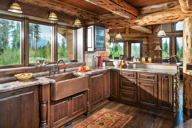 7 Key Log Home Kitchen Design Considerations