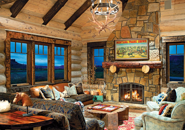 Creating Style in a Small Log Home