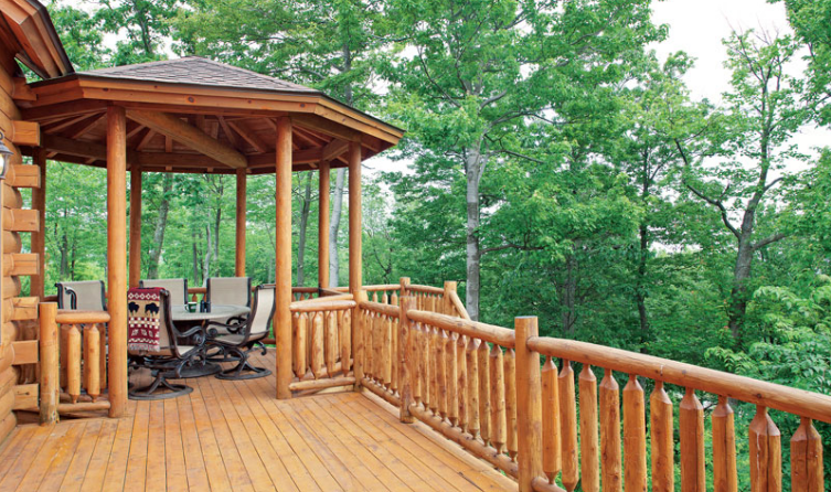 Annual Log Home Spring Deck Maintenance