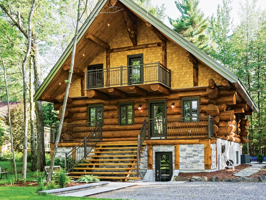 A Peaceful Log Home Retreat in Quebec