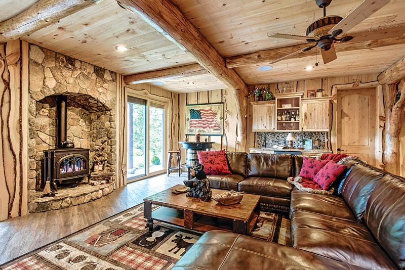 Wood-Basement-Fireplace-Interior-Dowell-(Golden-Eagle-Log-Homes)-16