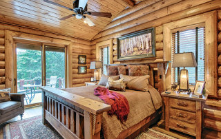 Bedroom-Windows-Patio-Door-Wood-Flooring-Interior-Dowell-Golden-Eagle-Log-Homes-2