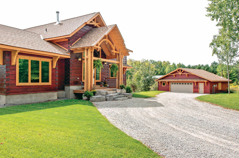 Energy Efficiency in a Modern Log Home