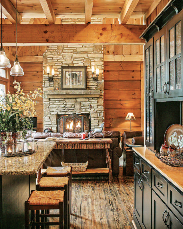 Deep In The Forest In A Georgia Log Home