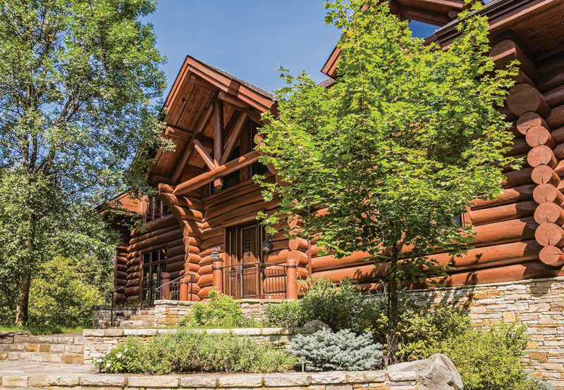 Escaping Florida's Heat in a Canadian Log Home