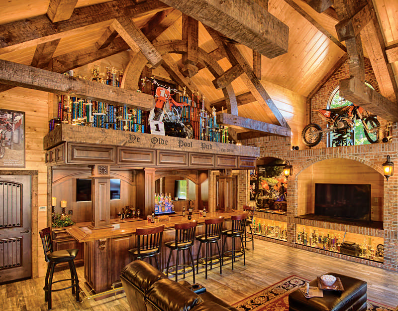 Completed-Interior-Trusses-Bar-Museum-Pool-House-Pub-Timber-Frame-Hand-Hewn_2