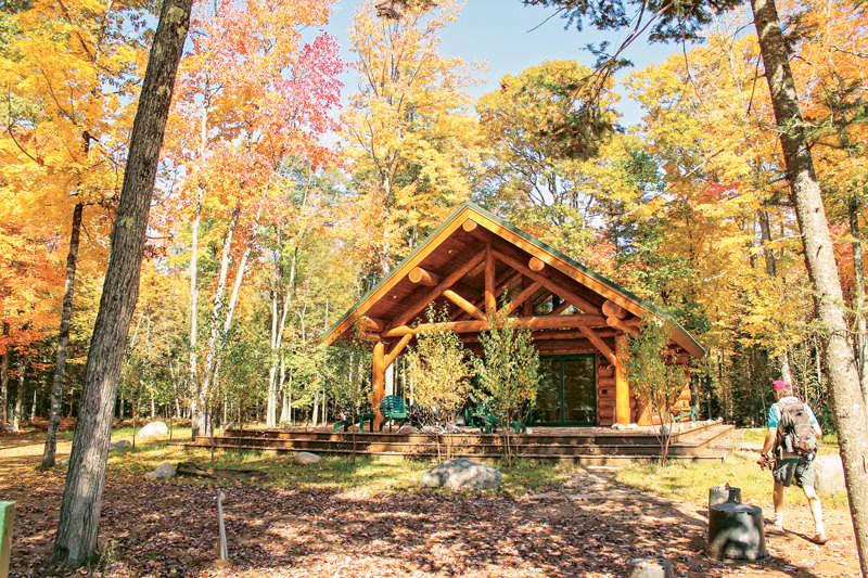 exterior cabin woods