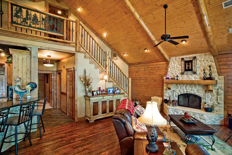 A Custom Crafted Log Home Lives Large