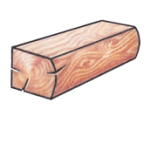 D-SHAPED LOGS: Round & Flat