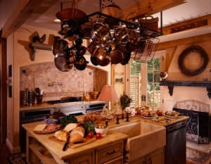 Kitchen-Island-Iron-Pot-Rack-540x420