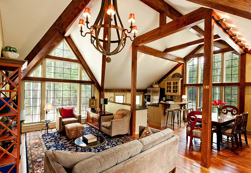 Timber Frame Carriage House Interior