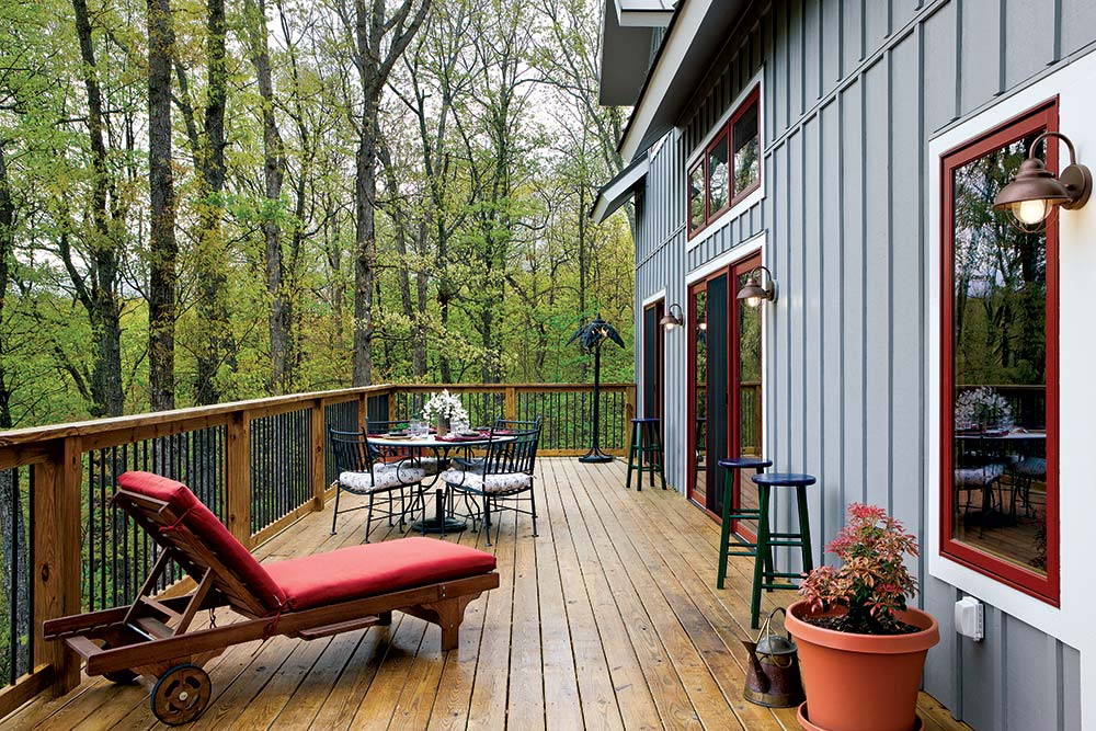 Small Timber Home Deck