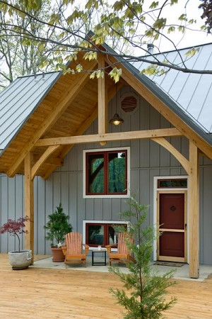 Small Wonder A Timber Home Built For Two