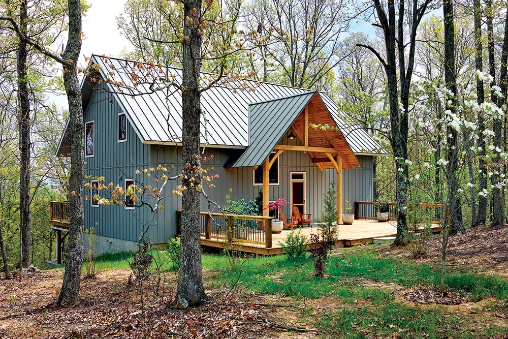 Small Wonder A Timber Home Built For Two on barn board and batten wood siding