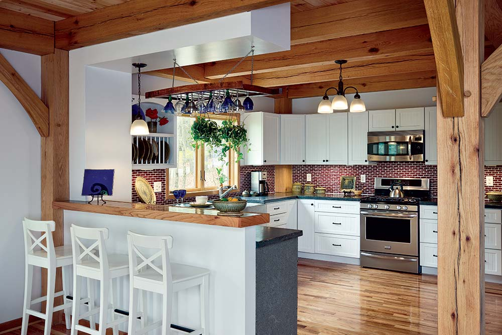 Small Timber Home Kitchen