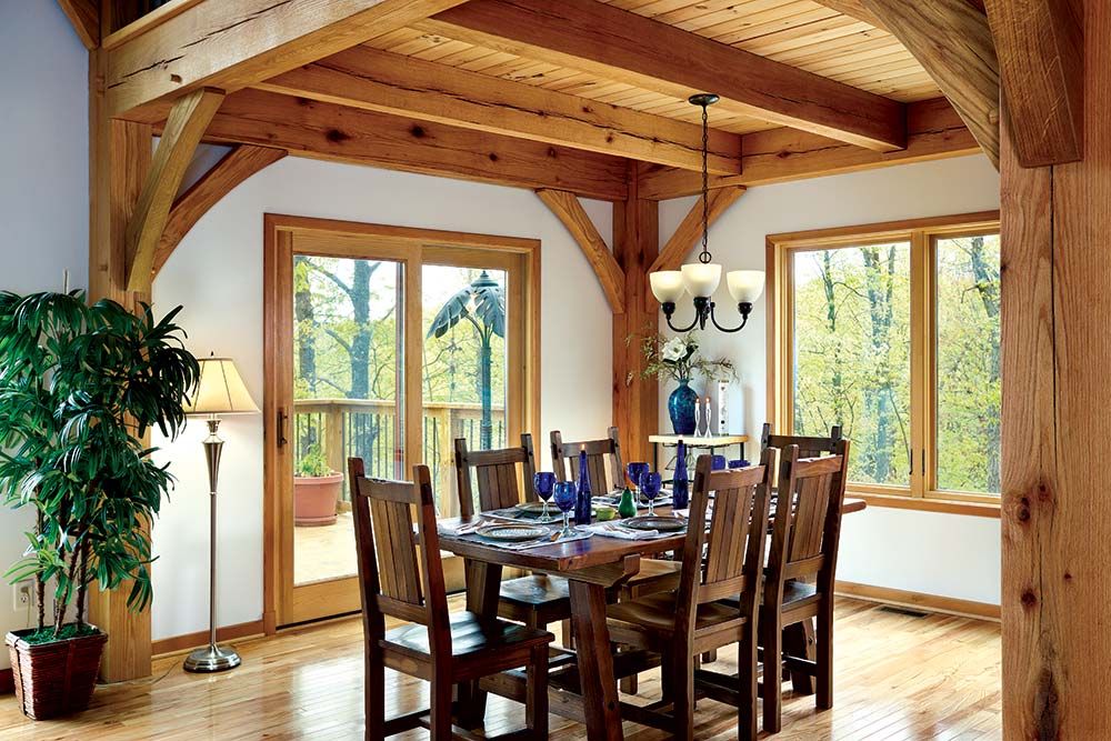 Small Timber Home Dining Room