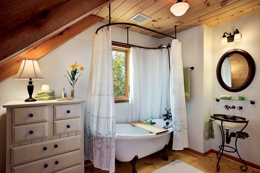 Small Timber Home Bathroom