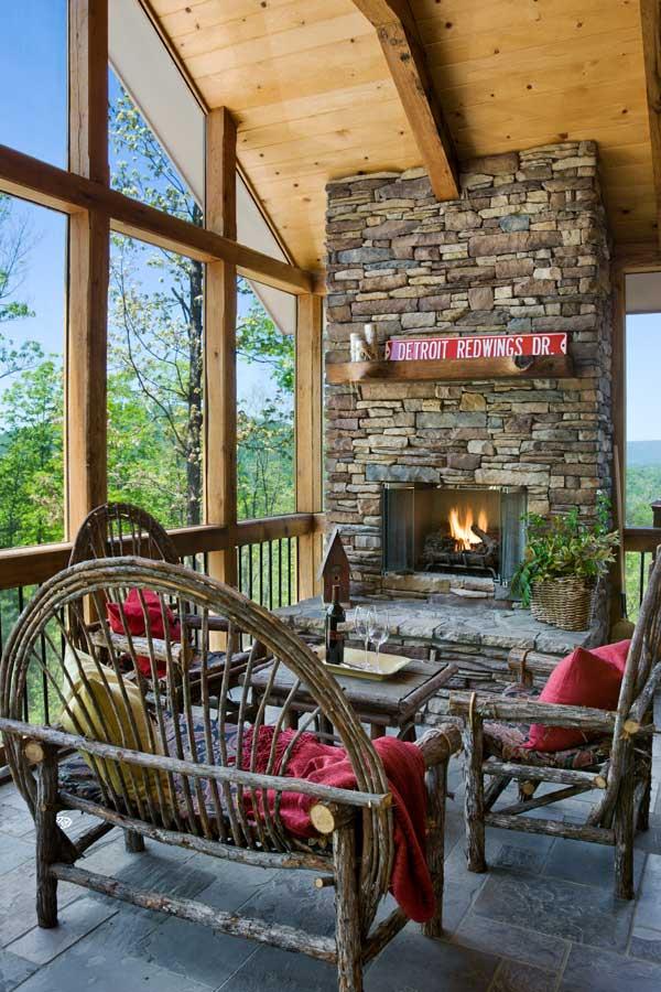 North Carolina Timber Home Porch