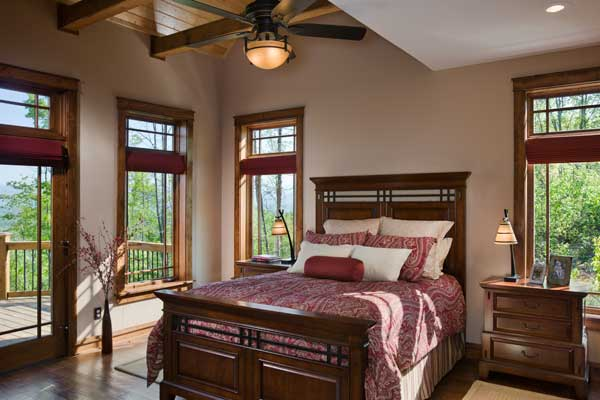 North Carolina Timber Home Bedroom