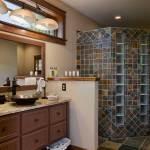 North Carolina Timber Home Bathroom