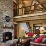 North Carolina Timber Home Great Room