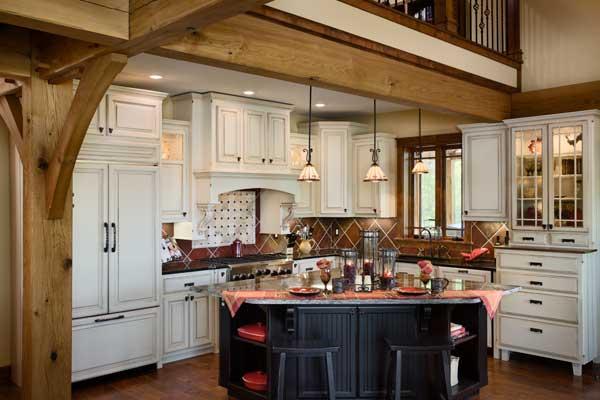 North Carolina Timber Home Kitchen