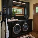 North Carolina Timber Home Laundry Room