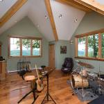 Vermont Timber Home Music Room